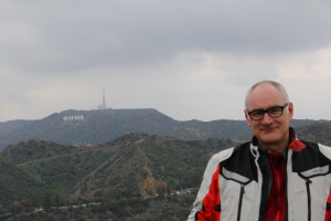 Martin vor dem Hollywood Sign
