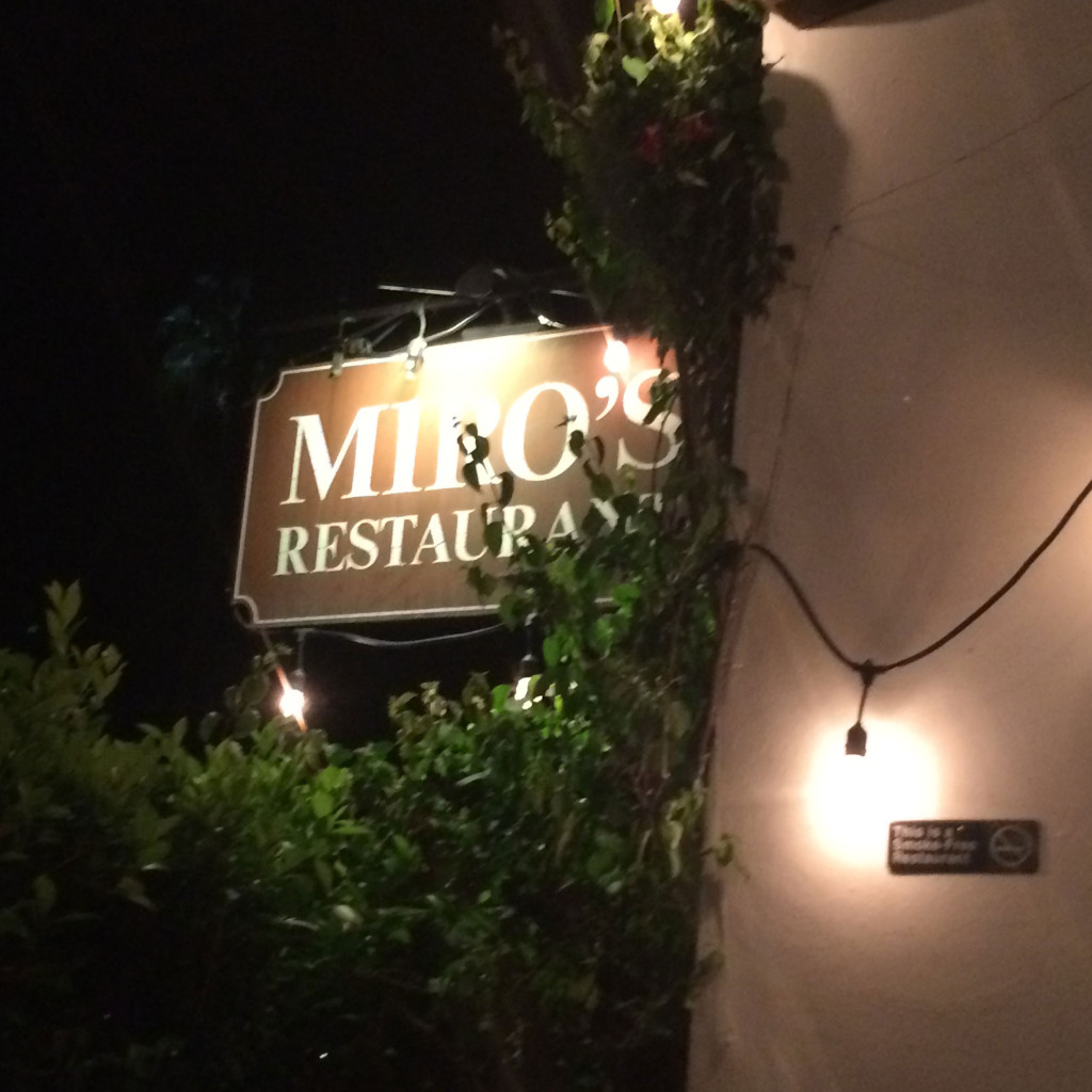 Miro's Restaurant in Palm Springs