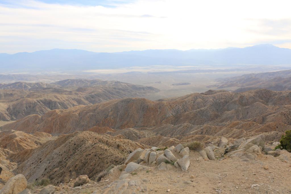 Die Ebene von Palm Springs von Keys View aus gesehen