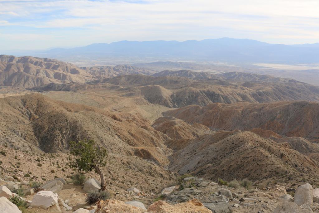 Die Ebene südlich von Palm Springs von Keys View aus gesehen