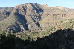 Salt River Canyon direkt vor mir