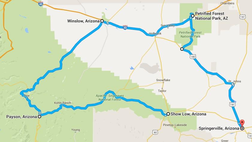 Ursprünglich geplante Route