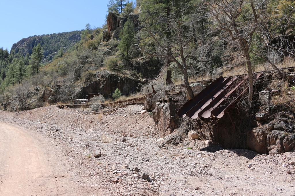 Tuine der Minenbahn in Mogollon