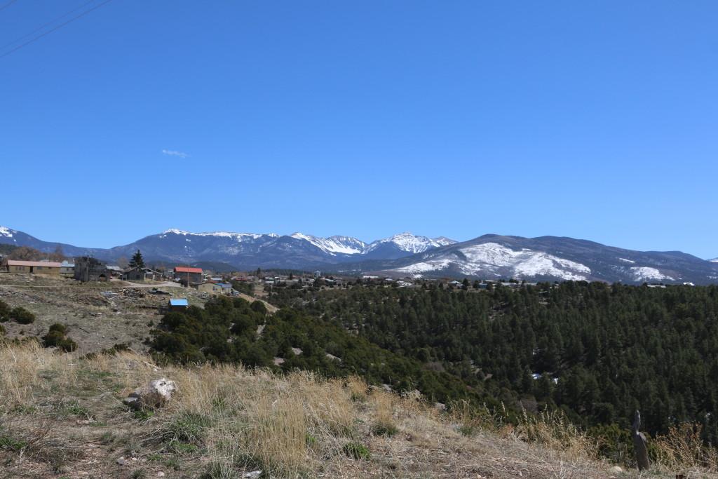 Schneebedeckte Berge nördlich von Santa Fé
