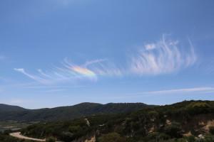 Regenbogenwolken