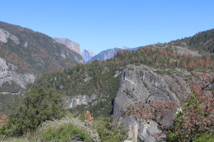 Yosemite-Felsen von weitem