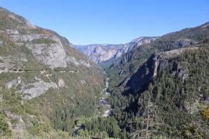 Schlucht zum Yosemite-Valley