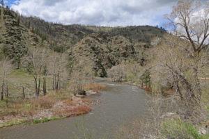 Cache la Poudre River in der Ebene