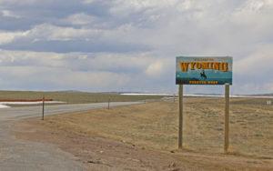Grenze zu Wyoming