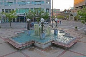 Brunnen vor der Boise Town Hall
