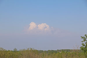 Rauchwolken der Waldbrände in Alberta